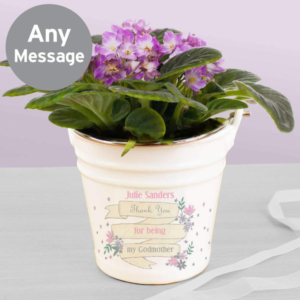 Personalised Garden Bloom Porcelain Bucket