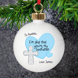 Personalised Godfather Bauble