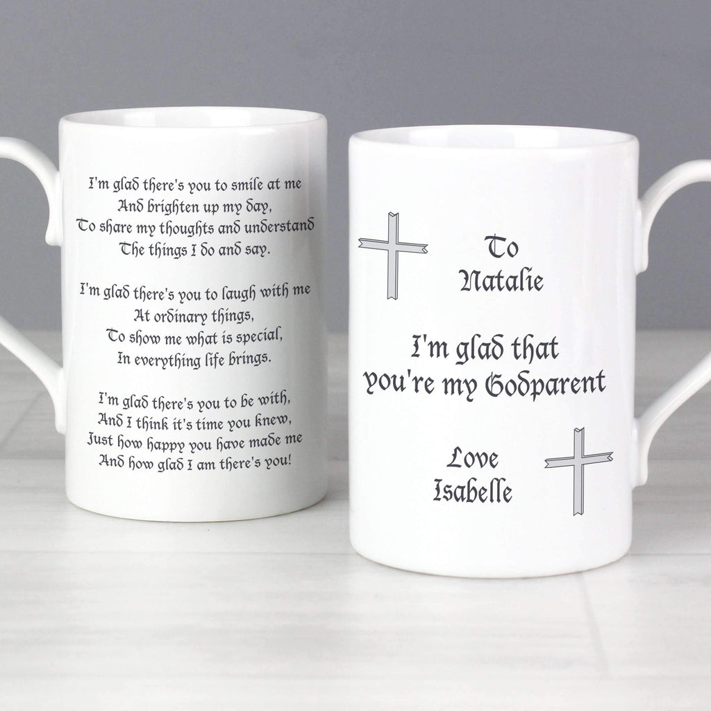 Personalised Godparent Slim Mug