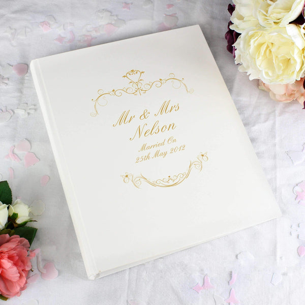 Personalised Gold Ornate Swirl Traditional Album