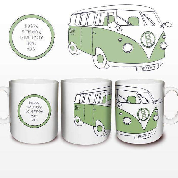 Personalised Green Campervan Mug