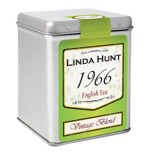 Personalised Green Vintage Tea & Tin