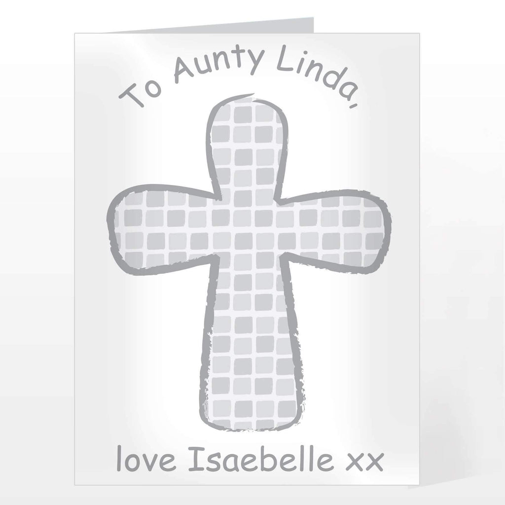 Personalised Grey Godparent Card Memento