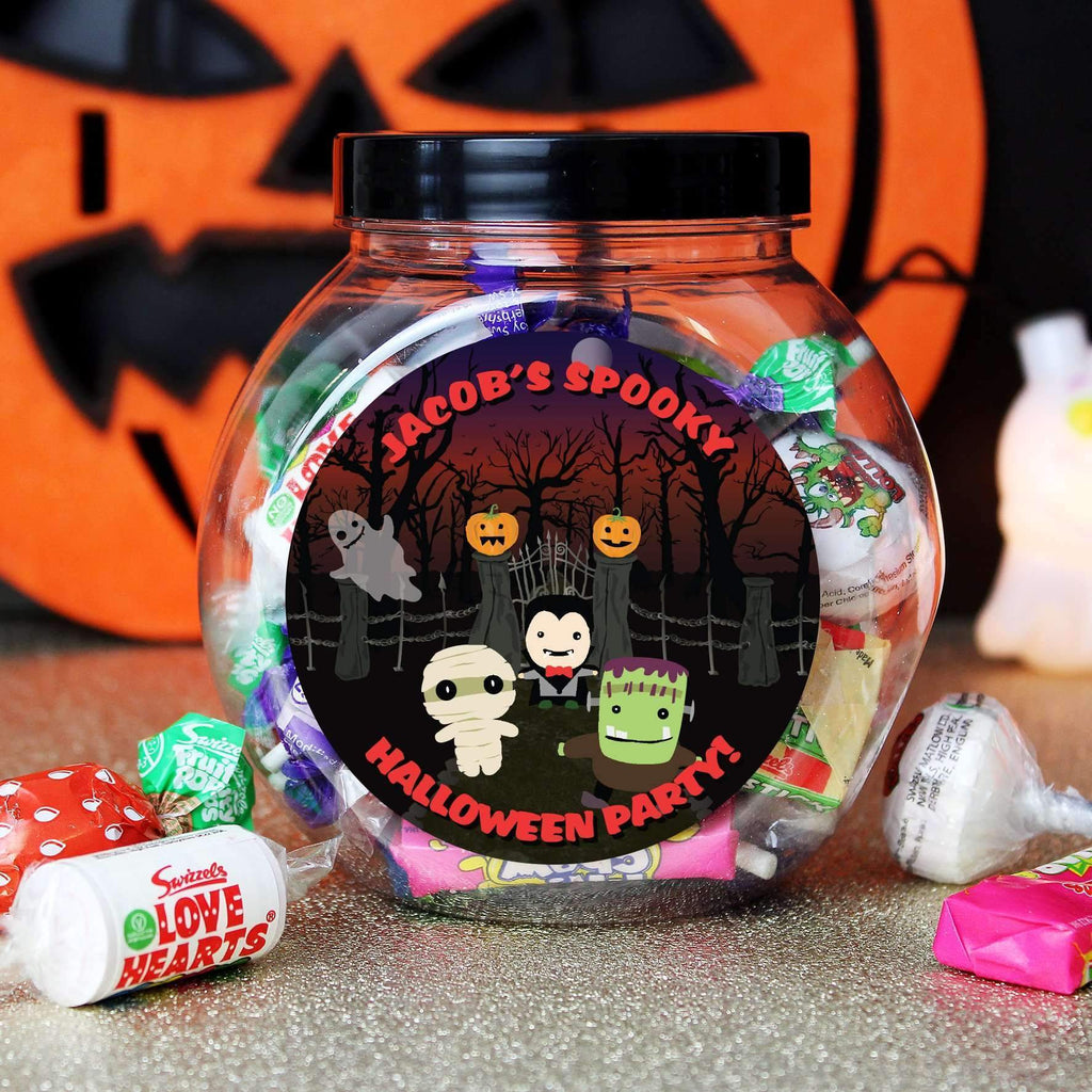 Personalised Halloween Sweet Jar Memento