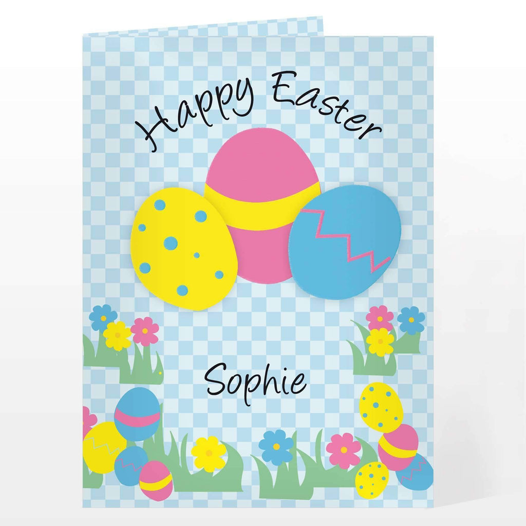 Personalised Happy Easter Egg Card Memento