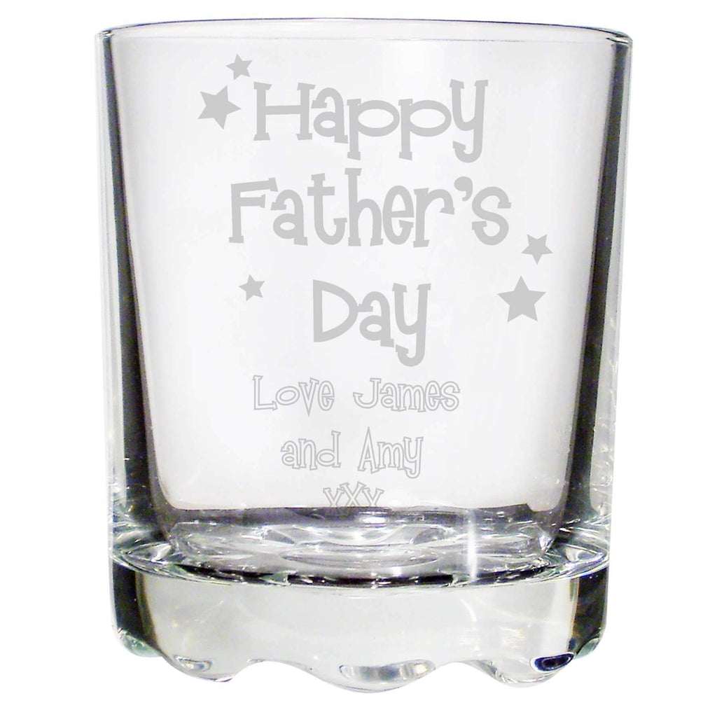 Personalised Happy Fathers Day Stars Tumbler