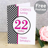 Personalised Harlequin Card