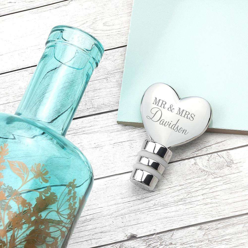 Personalised Heart Bottle Stopper