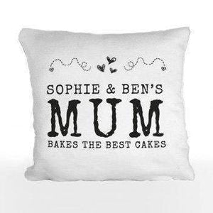 Personalised Hearts & Swirls Printed Cushion