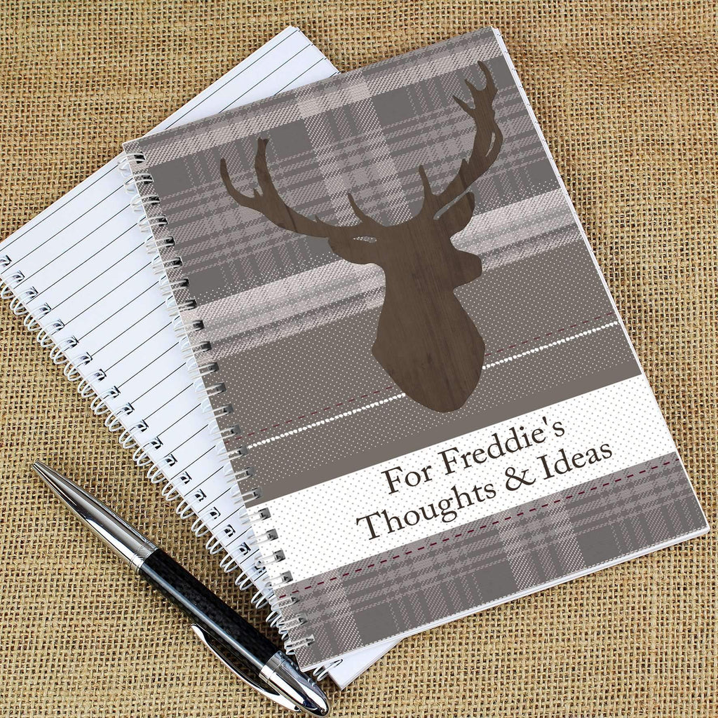 Personalised Highland Stag A5 Notebook