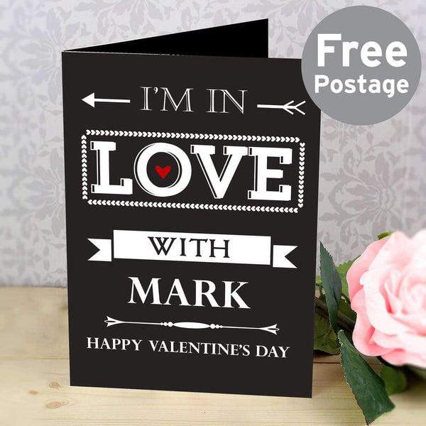 Personalised In Love With Card