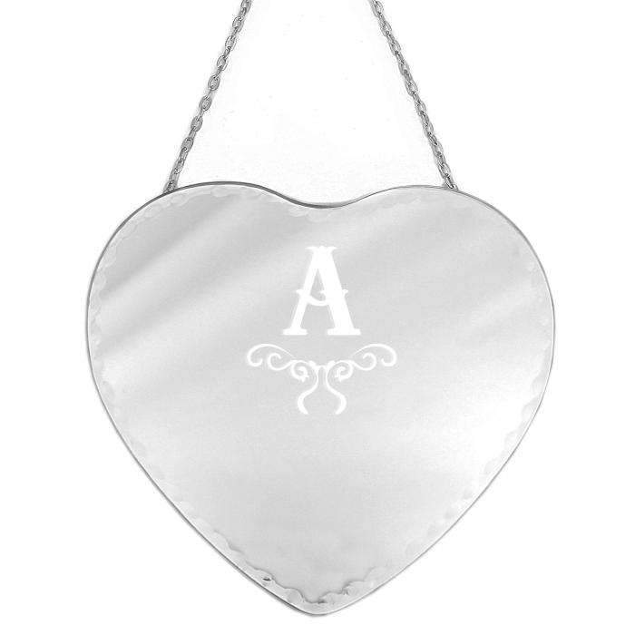 Personalised Initial Hanging Heart Mirror