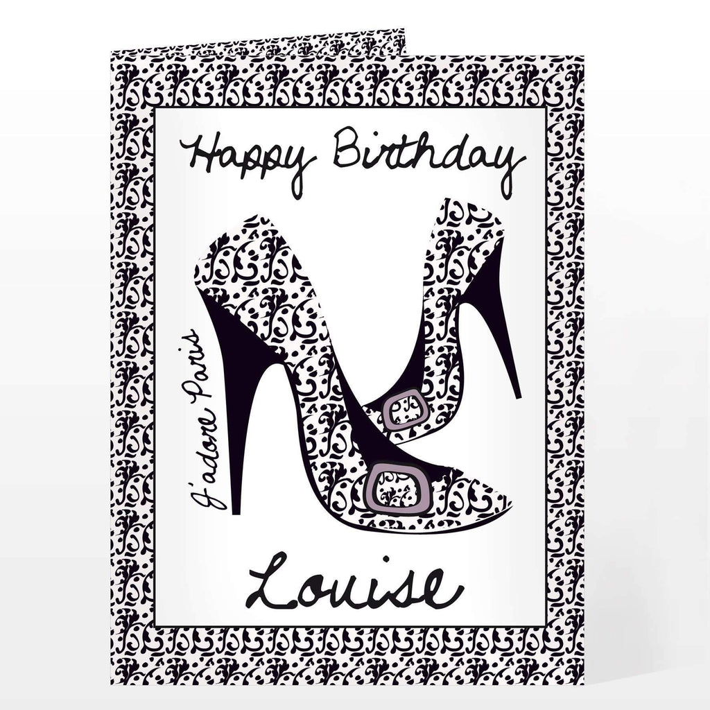 Personalised Jadore Shoe Card Gifts And Photo By Always Personal