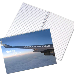 Personalised Jet Wing A5 Notebook