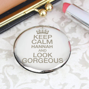 Personalised Keep Calm Compact Mirror