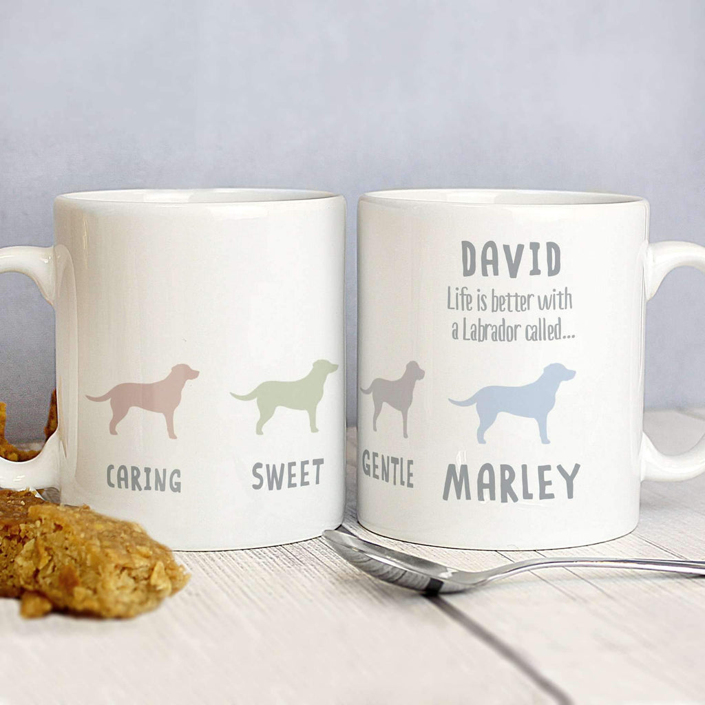 Personalised Labrador Dog Breed Mug Memento