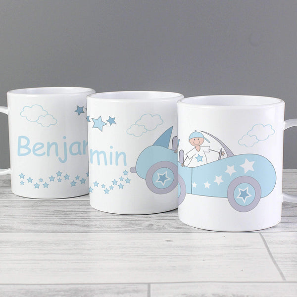 Personalised Little Monkey in Car Plastic Cup