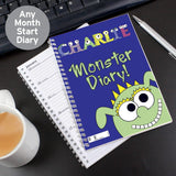 Personalised Little Monster - A5 Diary
