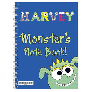 Personalised Little Monster A5 Notebook