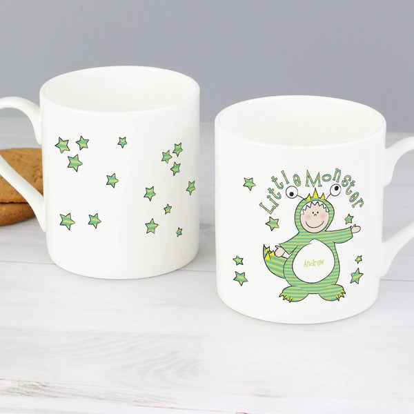 Personalised Little Monster Balmoral Mug with Milk Chocolates