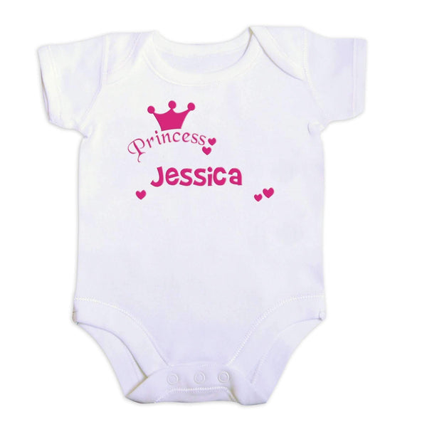 Personalised Little Princess Pink 6-9 Months Baby Vest