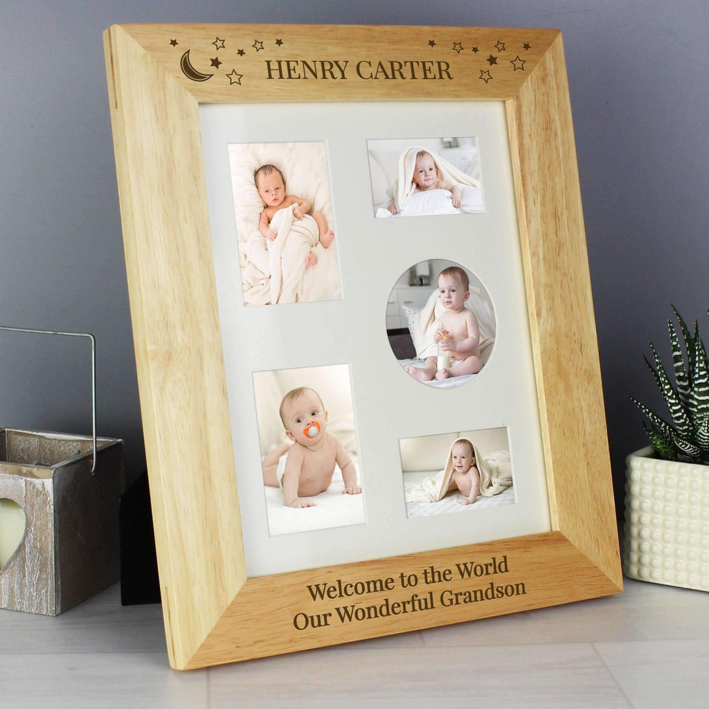 Personalised Little Stars 8x10 Wooden Photo Frame