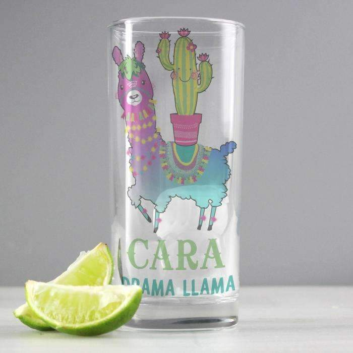 Personalised Llama Highball Glass