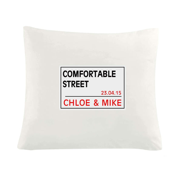 Personalised London Street Sign Cushion Cover