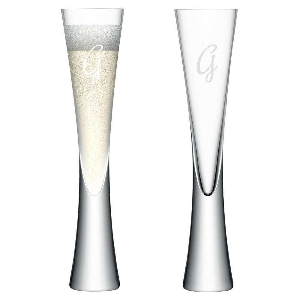 Personalised LSA Champagne Flutes Set of 2 Glassware Treat