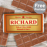 Personalised Luxury Milk Chocolate Bar