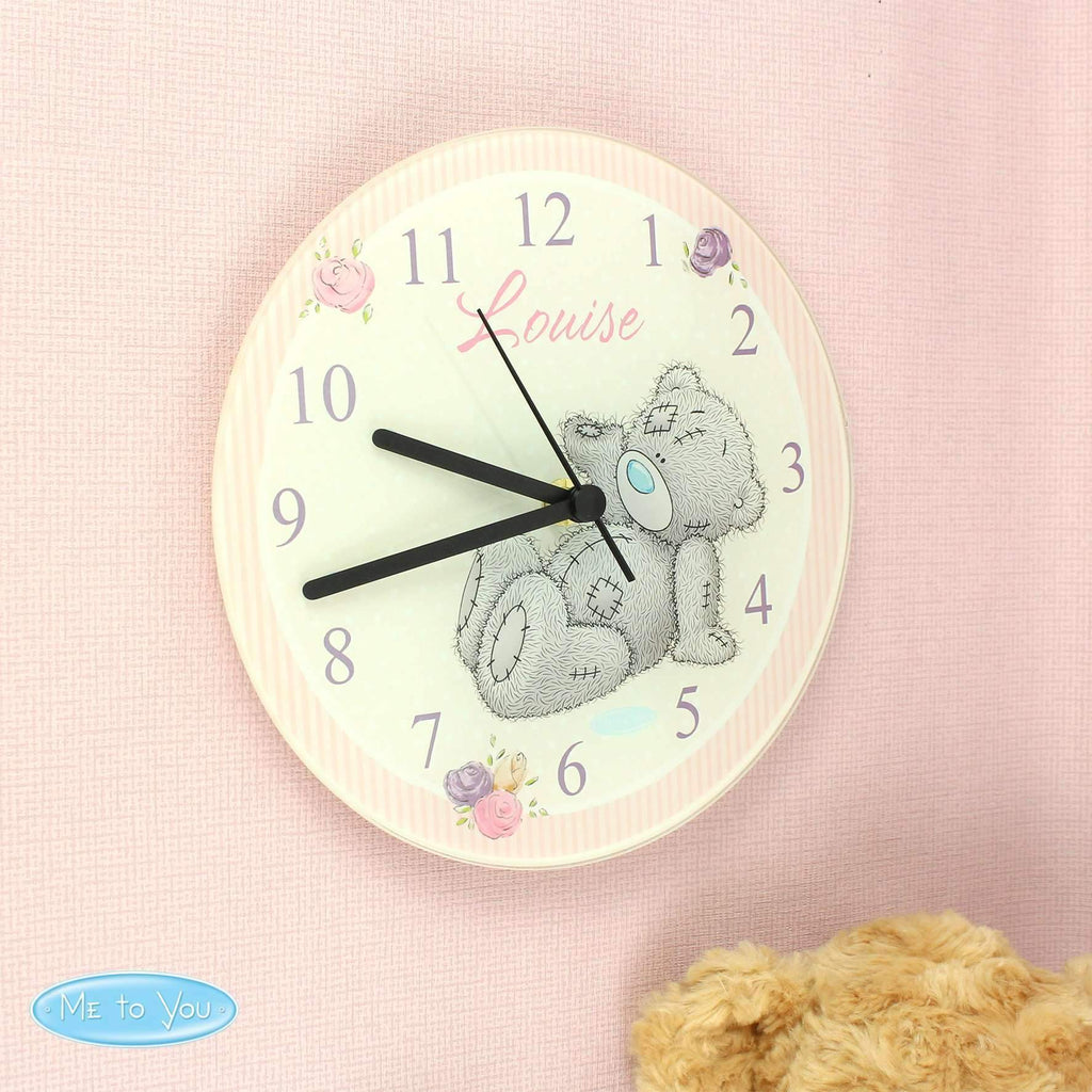 Personalised Me To You Glass Clock Memento