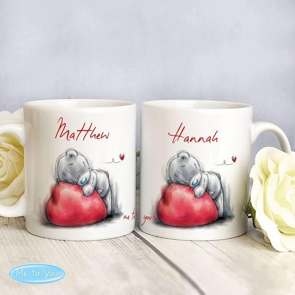 Personalised Me To You Heart Mug Set