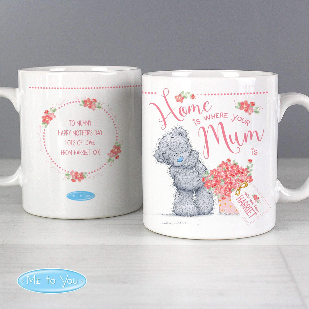 Personalised Me to You 'Home is Where Your Mum is' Mug Memento