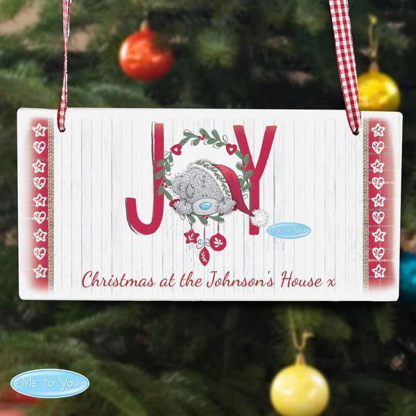Personalised Me To You JOY Wooden Sign