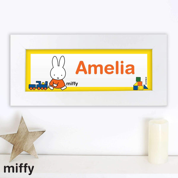 Personalised Miffy Name Frame