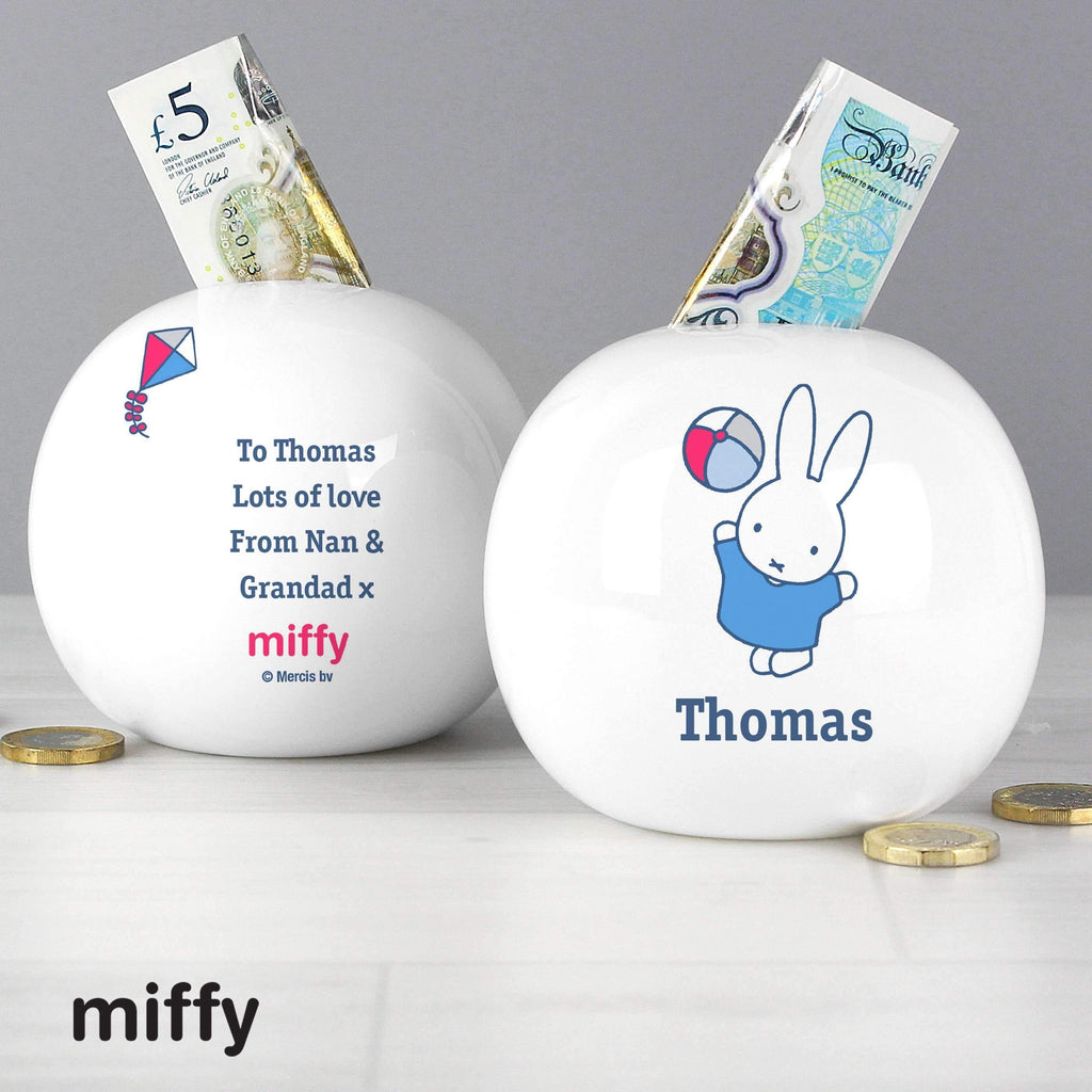 Personalised Miffy Playful Money Box