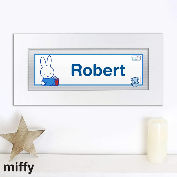 Personalised Miffy Playful Name Frame