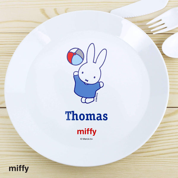 Personalised Miffy Playful Plastic Plate
