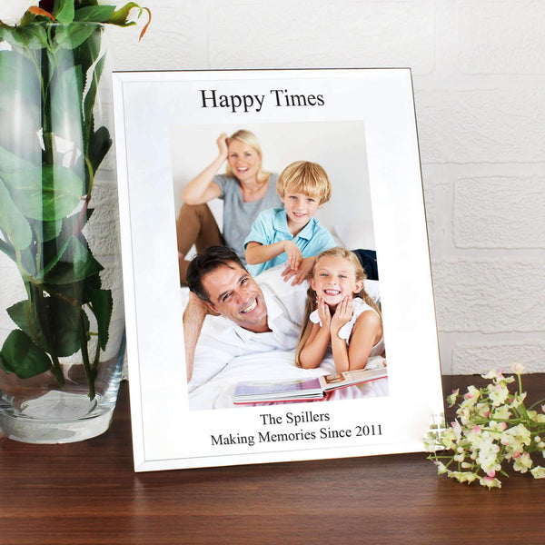 Personalised Mirrored Glass 5x7 Photo Frame