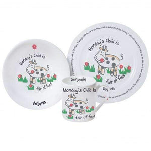 Personalised Mondays Child Breakfast Set