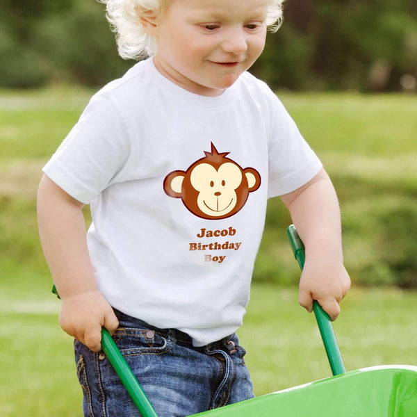 Personalised Monkey Boy Tshirt 2-3 years
