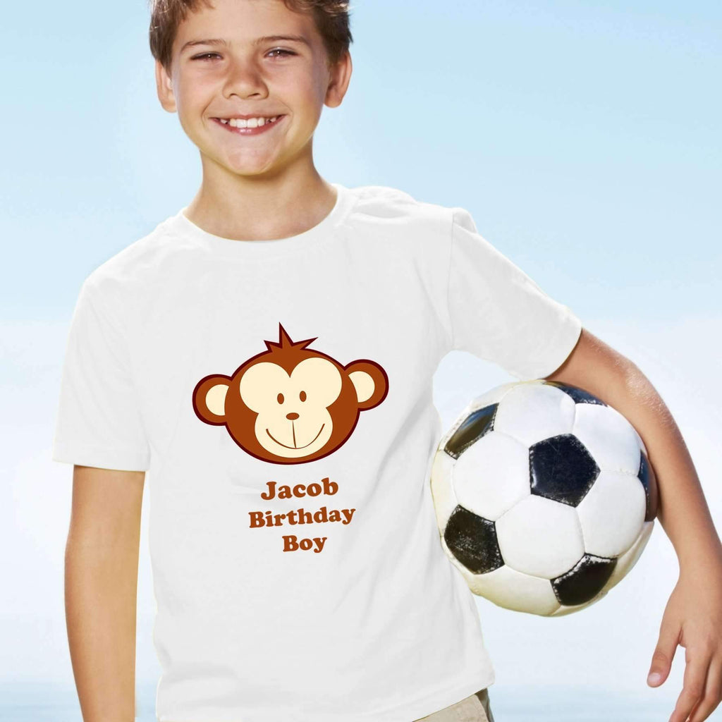 Personalised Monkey Boy Tshirt 5 6 Years Gifts And Photo By Always Personal