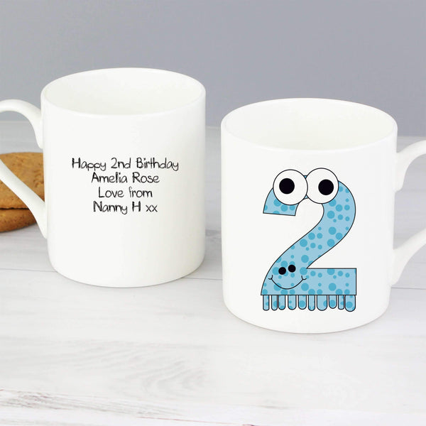 Personalised Monster Age Balmoral Mug - Age 2