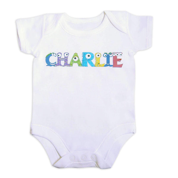 Personalised Monster Alphabet Baby Vest