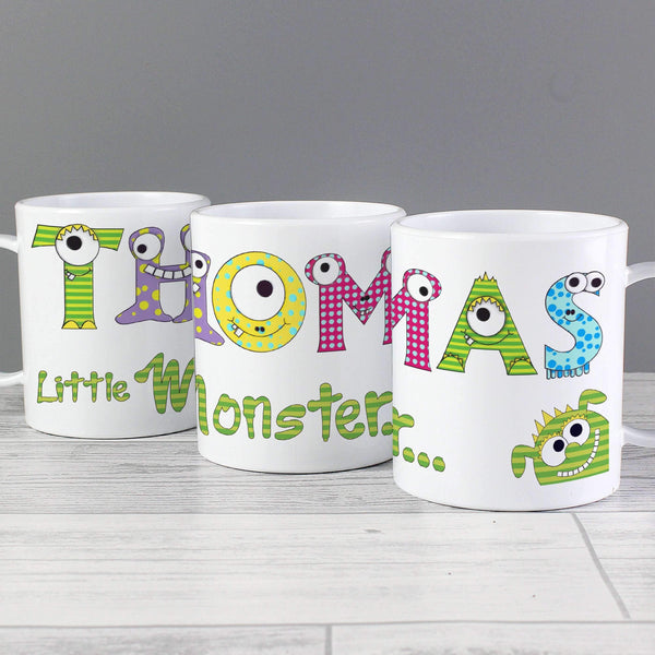 Personalised Monster Alphabet Plastic Cup