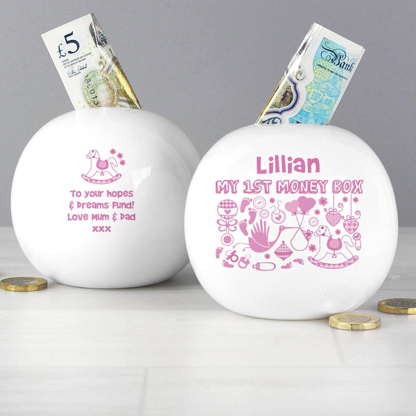 Personalised My 1st Money Box Girl