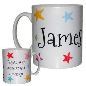 Personalised Name Mug with Stars