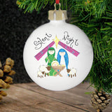 Personalised Nativity Silent Night Bauble