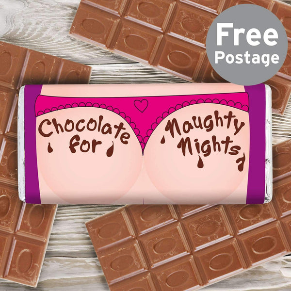 Personalised Naughty Nights Milk Chocolate Bar