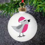 Personalised New Robin Bauble